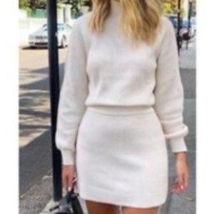 Zara Mock Neck Sweater Cream